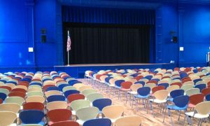 auditorium in the Forest Park Middle School