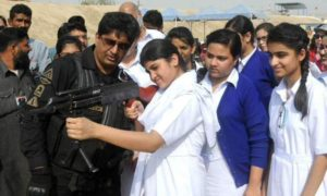 police training girls in Sindh